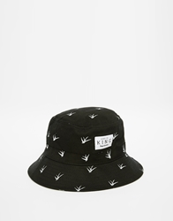 King Apparel Birds Bucket Hat Blue