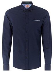 Scotch And Soda Long Sleeve Oxford Shirt Navy