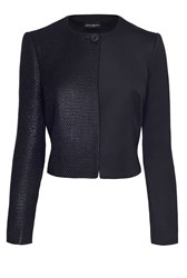 James Lakeland Contrast Fabric Jacket Black