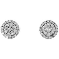 Jools By Jenny Brown Round Pave Surround Stud Earrings