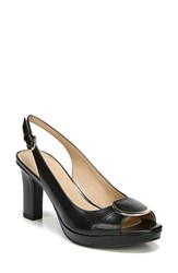 Naturalizer Ferris Slingback Pump Black Leather
