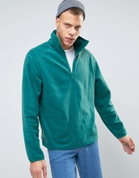 Weekday Bogdan Halfzip Sweater Teal Green