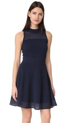 Milly Hexagon Stitch Dress Navy