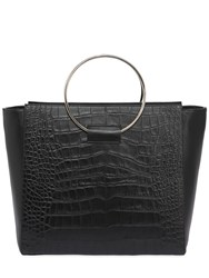 Little Liffner Embossed Leather Tote Bag W Ring