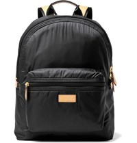 Paul Smith Leather Trimmed Shell Backpack Black
