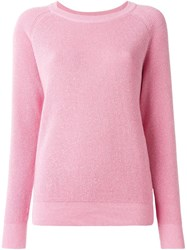 Peter Jensen Metallic Thread Sweater Pink And Purple