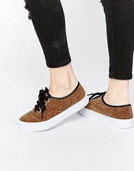 Asos Dixie Lace Up Trainers Brown
