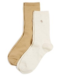 Lauren Ralph Lauren Super Soft Pin Dot Socks Set Of 2 Light