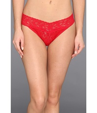 Hanky Panky Signature Lace Original Rise Thong Red Women's Underwear