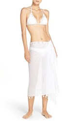 Seafolly Women's Gauze Cover Up Sarong White