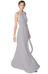 Women's Ceremony By Joanna August 'Amber' Side Tie Chiffon Halter Gown