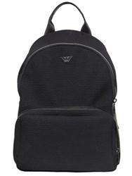 Emporio Armani Hexagon Neoprene And Leather Backpack