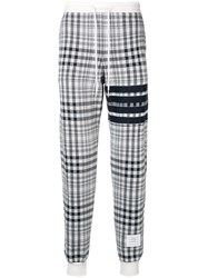 Thom Browne 4 Bar Shadow Prince Of Wales Sweatpant Blue