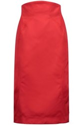 Zac Posen Duchesse Satin Dress Red