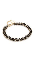 Elizabeth And James Paloma Bracelet Gold Black