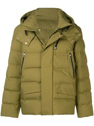 Peuterey Hooded Padded Jacket Green
