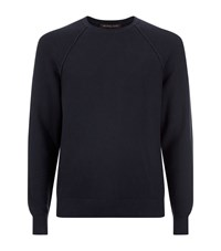 Michael Kors Roll Trim Crew Neck Jumper Male Black