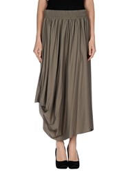 Oblique Skirts 3 4 Length Skirts Women Grey