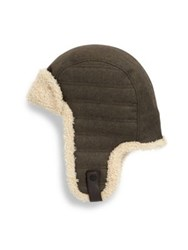 Ugg Woven Shearling Trapper Hat Black Heather