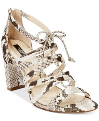 Alfani Prima Women's Jaqui Gladiator Sandals Only At Macy's Women's Shoes Natural Python