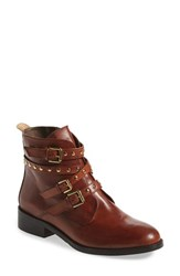 Women's Bella Vita 'Mod' Moto Bootie Cognac Leather