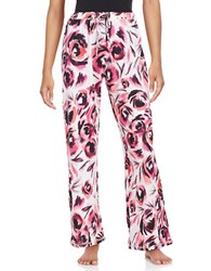 Lord And Taylor Patterned Lounge Pants Pink