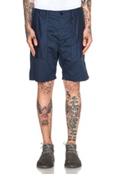 Engineered Garments Flat Twill Fatigue Shorts In Blue