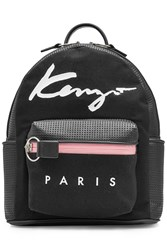 Kenzo Fabric Backpack With Perforated Leather