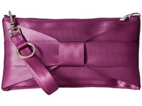 Harveys Seatbelt Bag Bow Mini Clutch Plum Clutch Handbags Purple