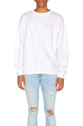 Martine Rose Classic Long Sleeve Tee In White