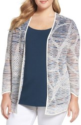 Nic Zoe Plus Size Women's Wildflower Open Front Cardigan Multi