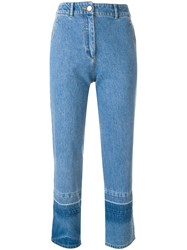Christian Wijnants Cropped Jeans Blue