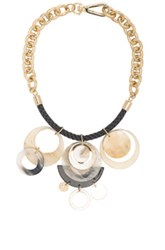 Marni Horn Necklace In Metallics