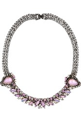 Erickson Beamon Young And Innocent Oxidized Gunmetal Tone Swarovski Crystal Necklace