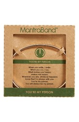 Mantraband Women's You're My Person Cuff Rose Gold