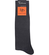 Dore Dore Ribbed Fil D'ecosse Socks Grey