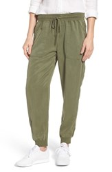 Vince Camuto Twill Jogger Pants Hunter Green