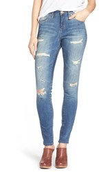 Women's Jag Jeans 'Sheridan' Distressed Skinny Jeans Blue Carbon