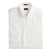 J.Crew Tall Ludlow Spread Collar Shirt With Convertible Cuffs White
