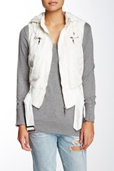 Coalition La Belt It Out Faux Fur Lined Hooded Vest White