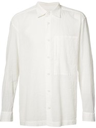 Issey Miyake Loose Fit Shirt Men Cotton 3 White