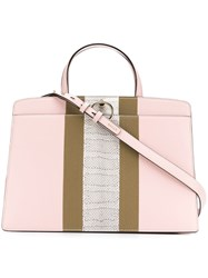 Bally Structured Tote Bag Pink And Purple