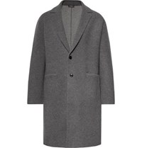 Berluti Unstructured Wool And Cashmere Blend Overcoat Anthracite