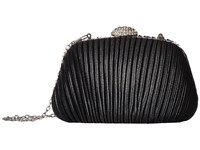 Jessica Mcclintock Brianna Pleated Soft Shine Black Handbags