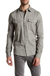 Threads For Thought Knapped Snap Long Sleeve Shirt Gray