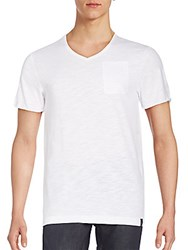 G Star Daner V Neck Pocket Tee White