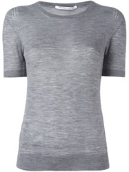 Agnona Cashmere Knitted Top Grey