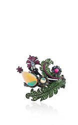 Lydia Courteille Pear Opal Floral Ring Multi