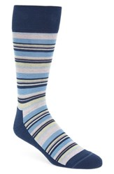 Nordstrom Men's Shop Variegated Stripe Socks Grey Pink