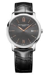 Baume And Mercier Classima Leather Strap Watch 42Mm